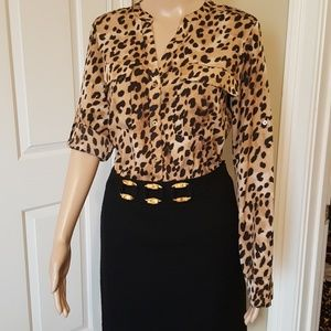 Calvin Klein leopard blouse